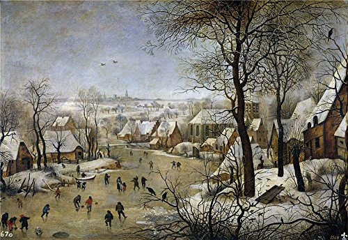 ['Brueghel el Joven Pieter (Copy) Paisaje nevado 17 Century ' oil painting, 8 x 12 inch / 20 x 30 cm ,printed on Perfect effect canvas ,this High quality Art Decorative Prints on Canvas is perfectly suitalbe for Living Room artwork and Home decor and] (God Of War 3 Costumes Hack)