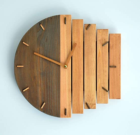 Wooden Decorative Wall Clock 11,8″ Industrial Black Wall ClockHome Gift Clock