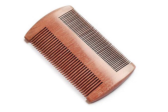 LJYH beard comb for men natural Anti-Static red sandalwood