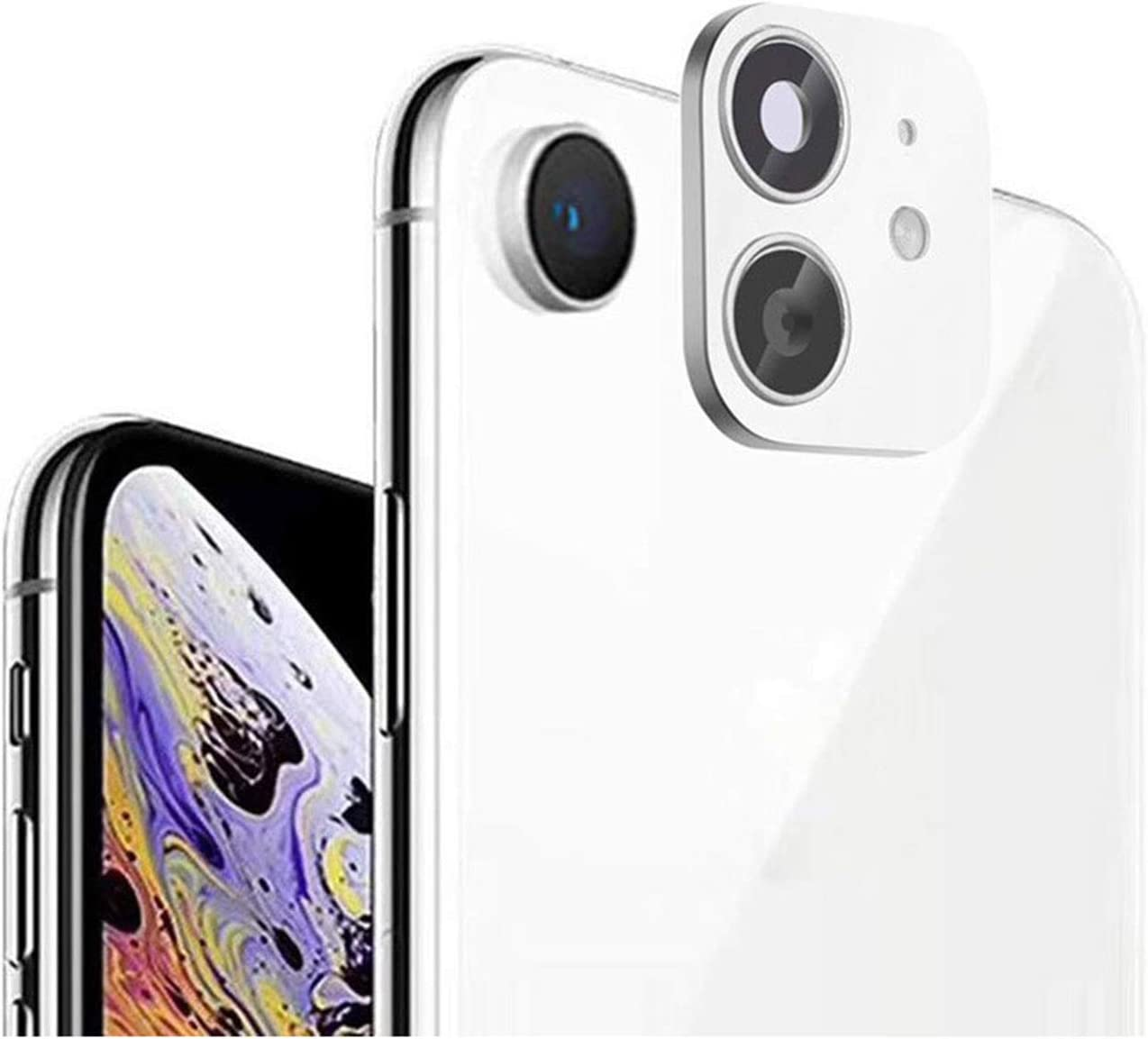 iPhone XR/X Convert to iPhone 11/11 Pro/11 Pro Max Lens Sticker,Dikkar Camera Lens Protector for iPhone XR/X/XS/XS Max,Upgraded Camera Cover Anti-Scratch Tempered Glass film,Change to New iPhone