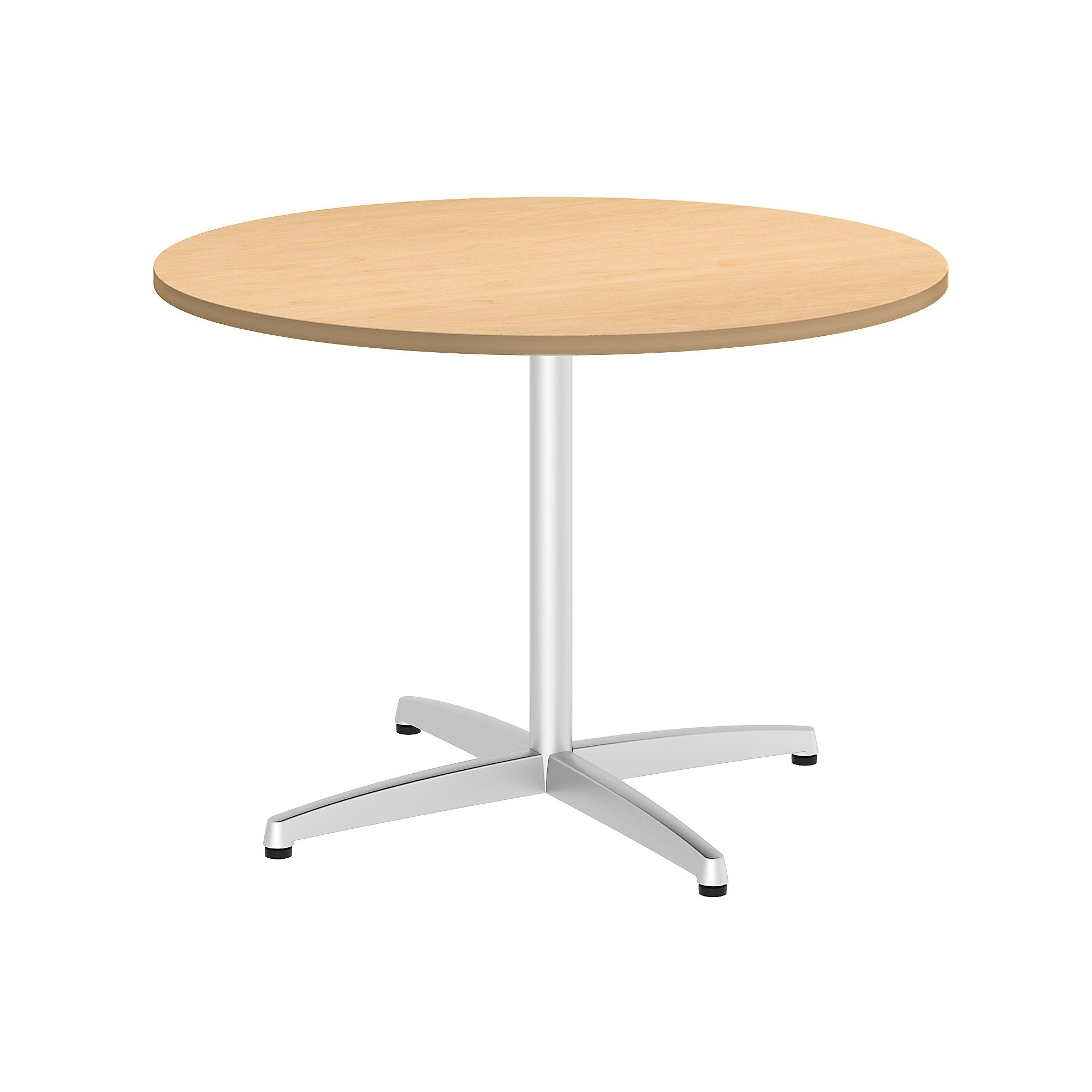 Bush Business Furniture 42W Round Conference Table with Metal X Base in Natural Maple by Bush Business Furniture