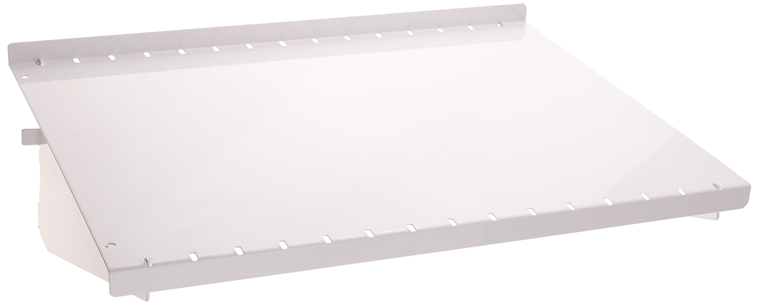 Wall Control ASM-SH-1612 W 12'' Deep Pegboard Shelf Assembly for Wall Control Pegboard Only, White