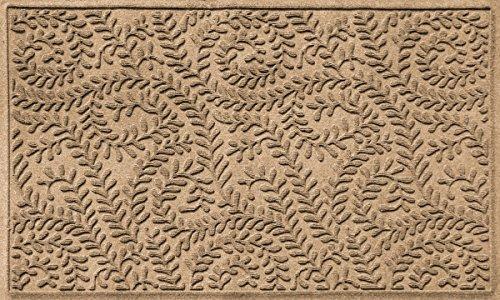 Bungalow Flooring Waterhog Doormat, 3' x 5', Skid Resistant, Easy to Clean, Catches Water and Debris, Boxwood Collection, Khaki/Camel by Bungalow Flooring