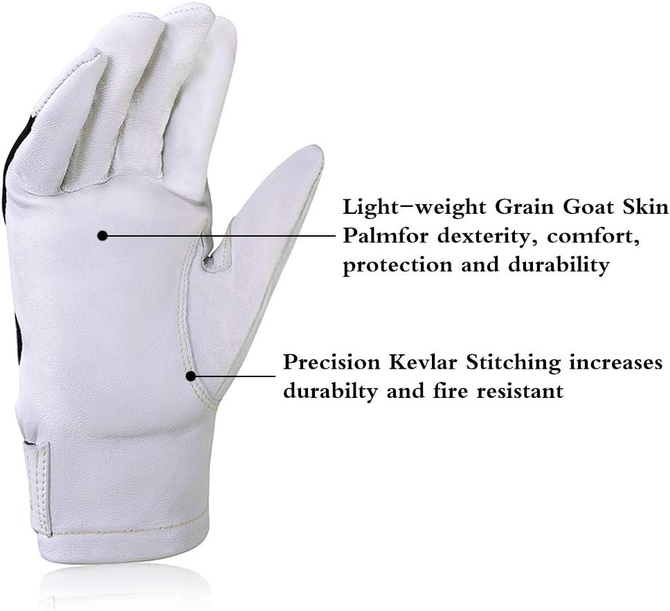 spark-resistant Nomex back Premium Grain goat skin Intra-FIT TIG Welding Gloves With Kevlar Stitching