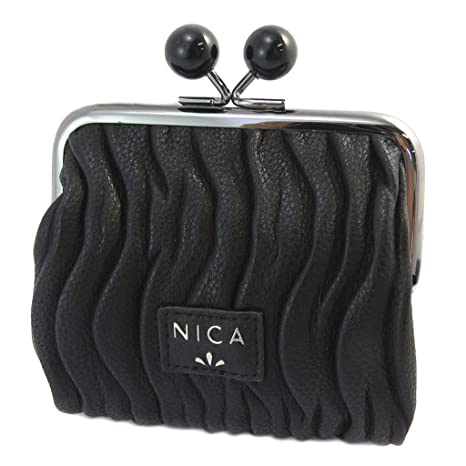 Nica [P3442] - Monedero Nica negro - 12x10.5x4 cm.: Amazon ...
