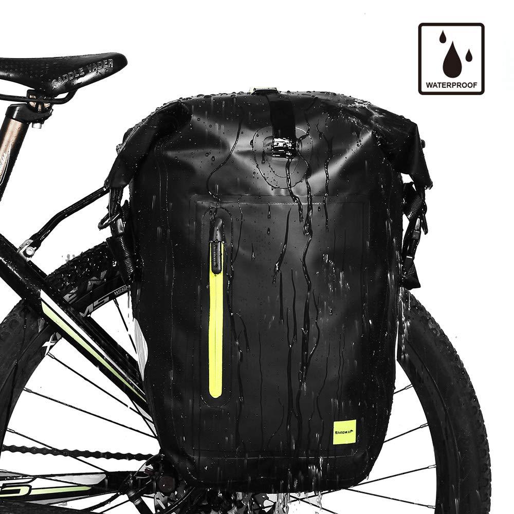 Rhinowalk Bike Bag Waterproof Bike Pannier Bag, for Bicycle Cargo Rack Saddle Bag Shoulder Bag Laptop Pannier Rack Bicycle Bag Professional Cycling Accessories