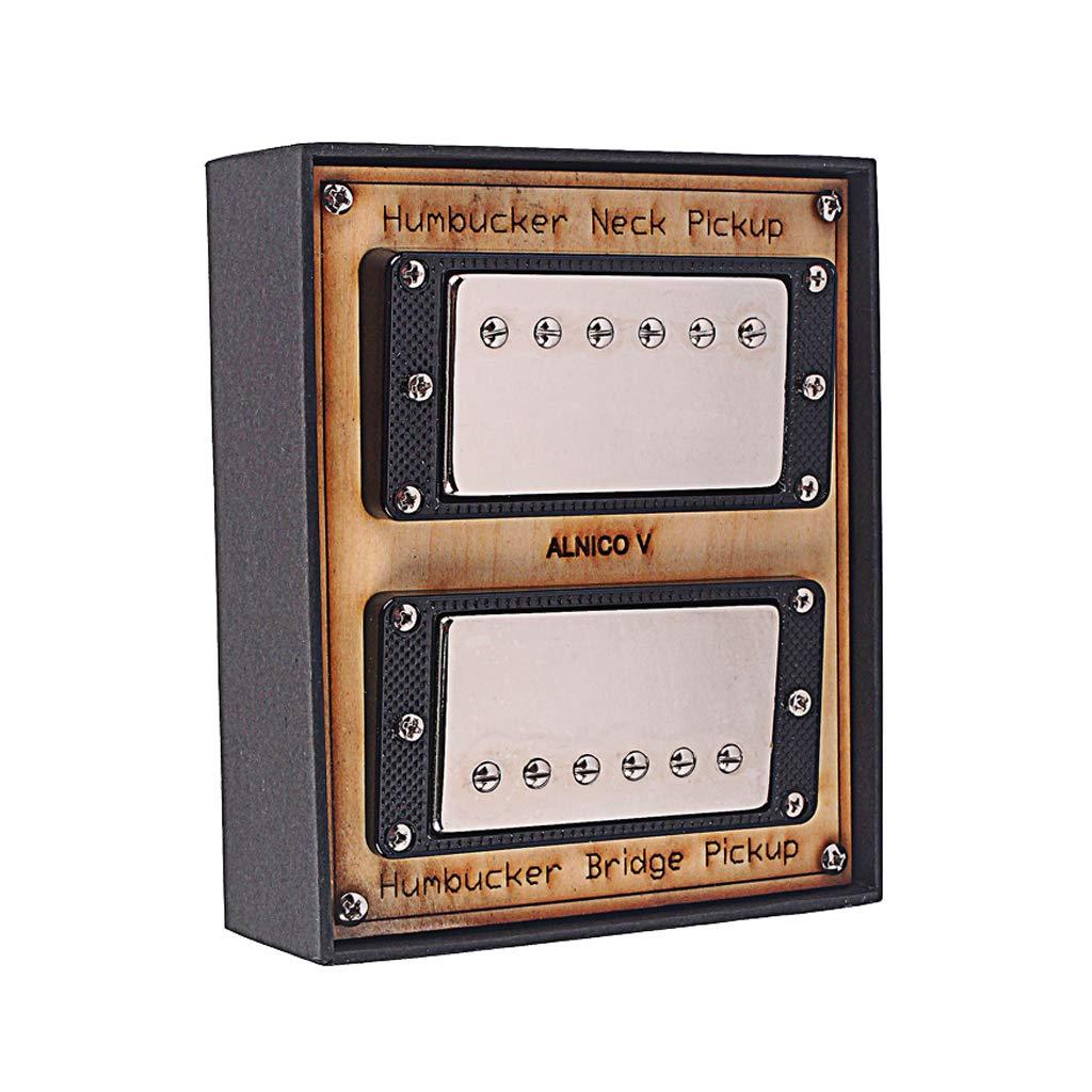 come descritto Chrome nero Sharplace 2 Pickup Humbucker Single Core Per Chitarra Elettrica Lp