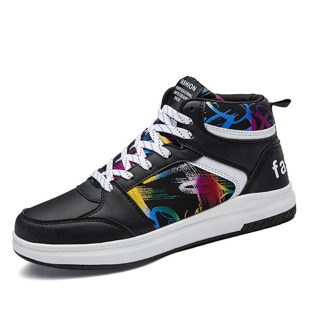 MUMUWU Mens And Womens High Fashion Sneakers Casual Style With Patterned Hip-hop Basketball Shoes Carrier