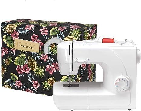 Funda protectora para máquina de coser, cubierta protectora acolchada para polvo compatible con máquinas Brother y Singer, funda universal con 3 prácticos bolsillos ...
