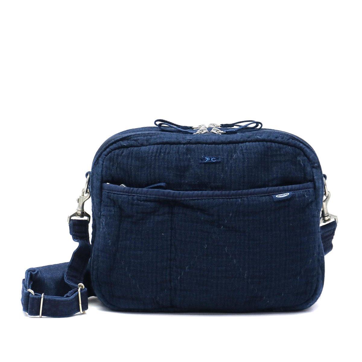 [ポータークラシック]Porter Classic ショルダーバッグ muatsu NEWTON SASHIKO SHOULDER BAG PC-050-958 ニューブルー/40 B07CH2N6DR