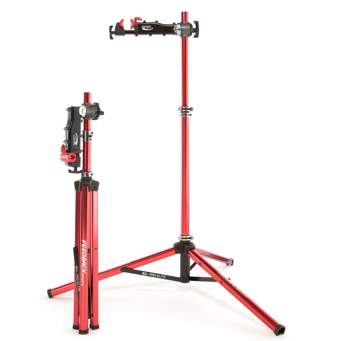 Feedback Sports Pro Elite Repair Stand with Tote Bag (Red) by Feedback Sports