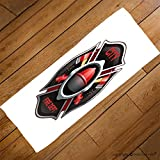 VROSELV Custom Towel Soft and Comfortable Beach Towel-city fire department organization realistic logo emblem design with crossed Design Hand Towel Bath Towels For Home Outdoor Travel Use 27.6''x13.8''