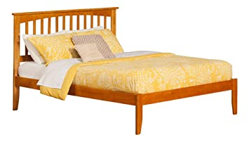 Amazon Mission Bed With Open Foot Rail Queen Caramel Latte