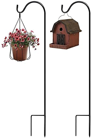 Sorbus Shepherdu0027s Hooks   Set Of 2 Extendable Garden Planter Stakes For  Bird Feeders, Outdoor