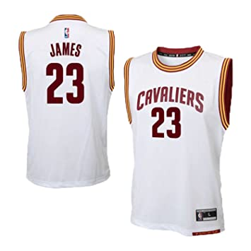 Lebron James Cleveland Cavaliers #23 NBA - Camiseta para niños, color blanco, Large