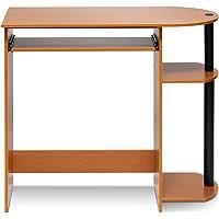 Furinno 32-in Rectangular Light Cherry Computer Desk w/Tray