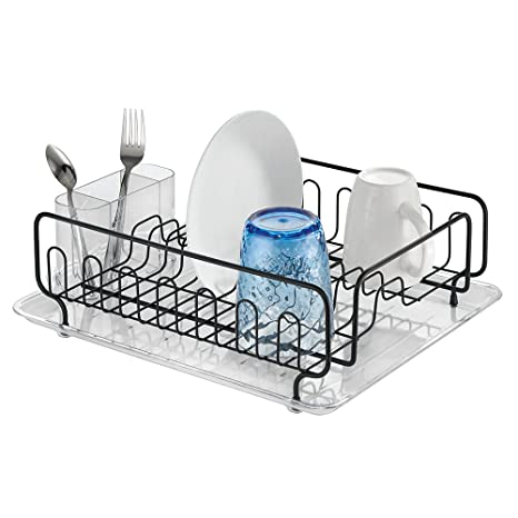 Amazon.com: MetroDecor 13.5x17x5-Inch Kitchen Dish Drainer Rack with ...