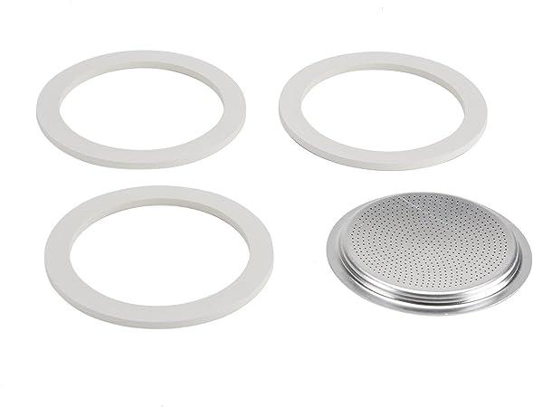 3 Dichtungen für 6 Tassen Espressokocher Aluminium Bialetti Filtersieb