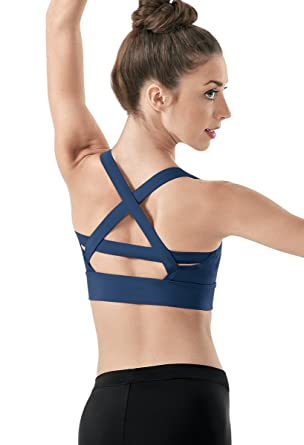 e1b0a6566e Balera Bra Top Girls Strappy Sports Bra for Dance Womens Camisole with  Cross Straps High Support