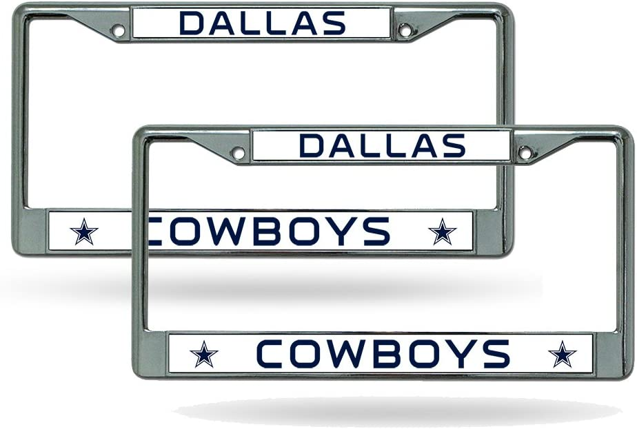 NFL Dallas Cowboys Steel License Plate with Raised Logo