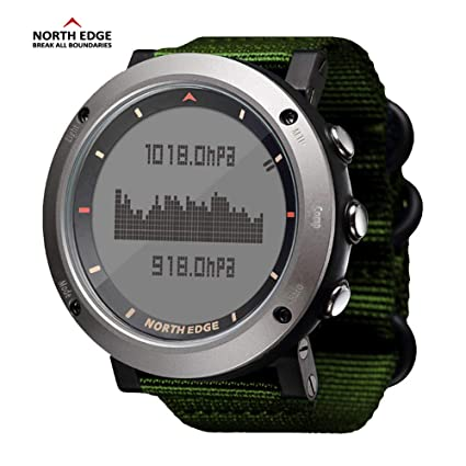 RENYAYA North Edge Relojes Inteligentes Hombres Deportes al Aire Libre Reloj Impermeable 50m Pesca altímetro barómetro