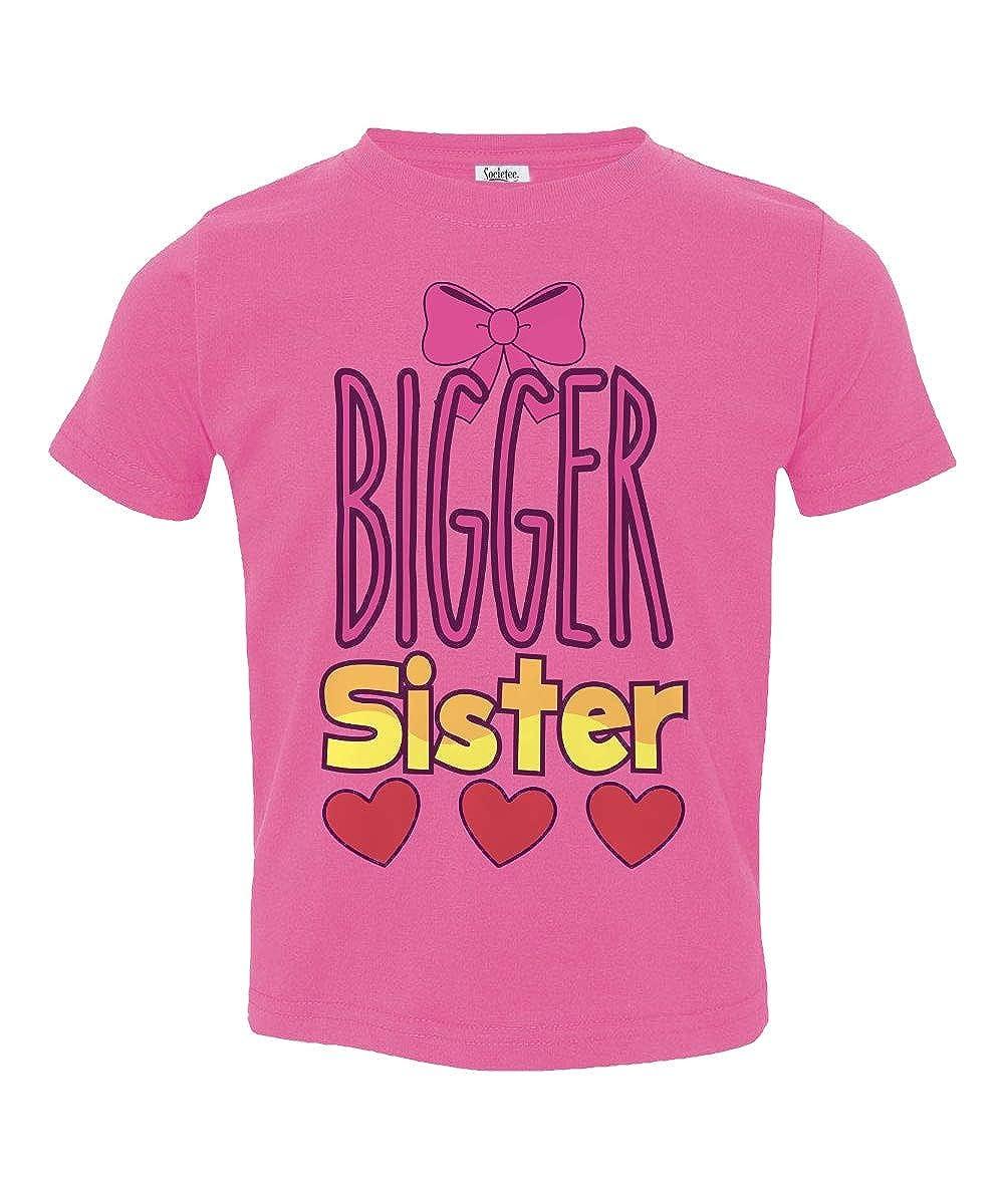 Societee Bigger Sister Cute Sibling Little Kids Girls Toddler T-Shirt
