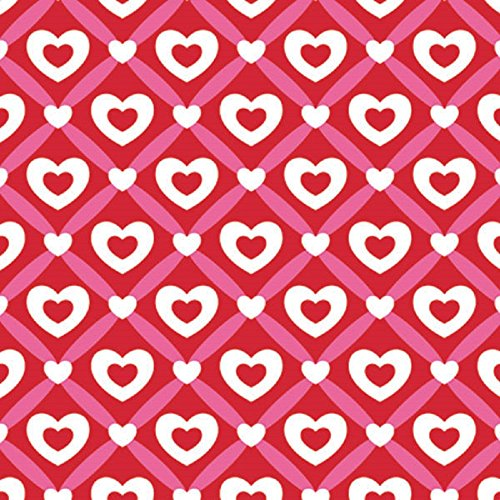 Heart Lattice Valentine's Day Gift Wrap Flat Sheet 24