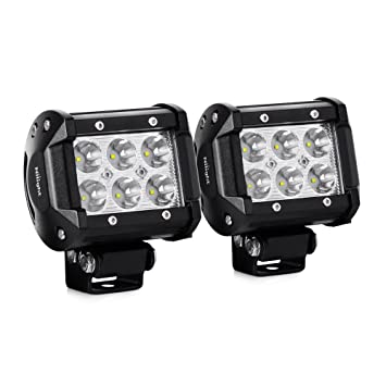 Amazon nilight 2pcs 18w 1260lm spot driving fog light off nilight 2pcs 18w 1260lm spot driving fog light off road led lights bar mounting bracket for mozeypictures Image collections