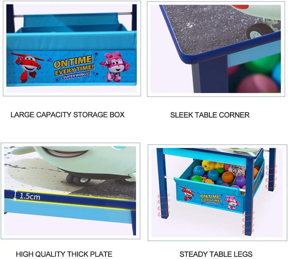 Mesas Y Sillas Infantiles Escritorios Infantiles Sillas De Juego Escritorios De Dibujos Animados Y Sillas (Color : Blue, Size : 60x60x50cm): Amazon.es: Hogar
