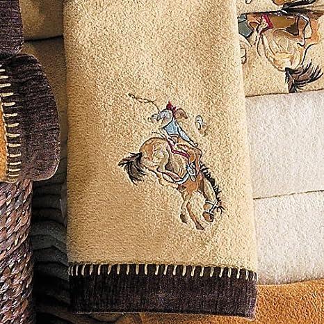 Buy Cowboy Rider Rattan Embroidered Western Hand Towel Western