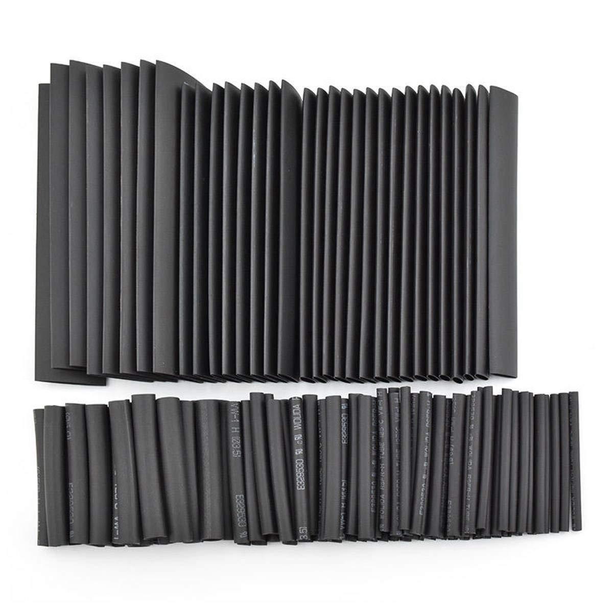 SODIAL 508Pcs Tube Thermor/étractable Noir Cable /électrique Enroulement De Fil DSssortiment Gaine De Tube