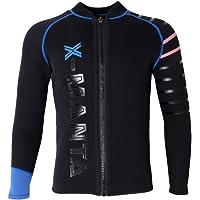 Dolity 3mm Neoprene Jacket Men Long Sleeve Front Zip Wetsuit Top Surf Scuba Dive Wakeboard Swimsuit