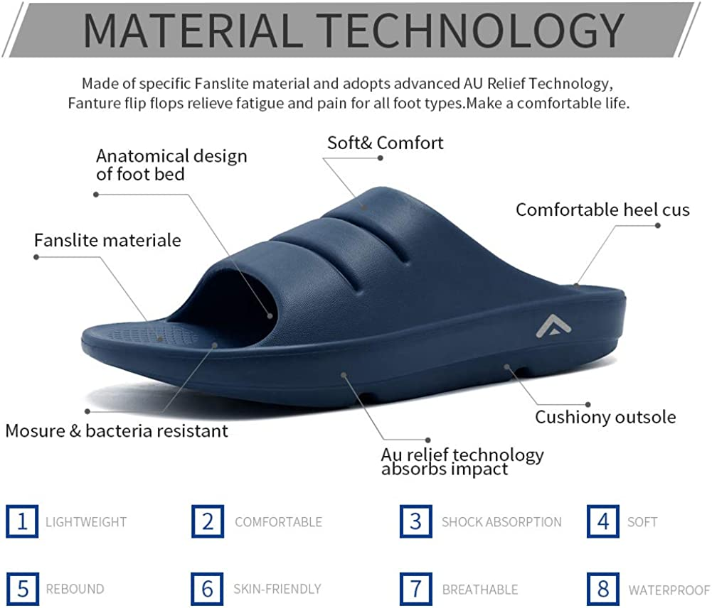 fanture/Men//&/Womens/Ultra/Sandal Soft/Thong/Foot/Pain/Relief/Arch/Support/Recovery/Slipper/and/Sandals