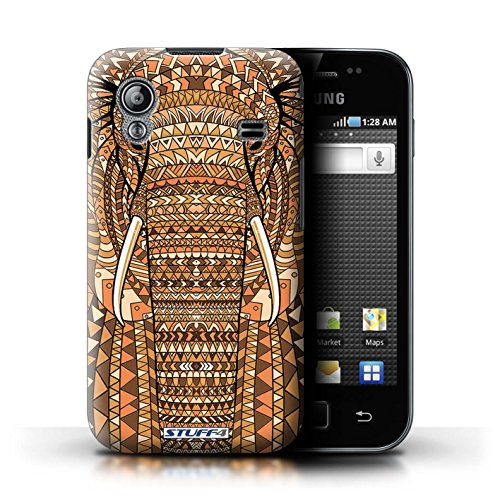 Stuff4 Hülle / Hülle für Samsung Galaxy Ace / Elefant-Orange Muster / Aztec Tier Muster Kollektion
