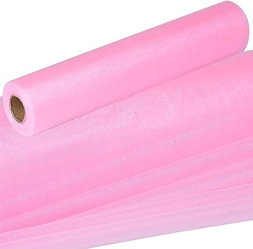 26m*29cm Rollo Organza Tul Cinta Rosa Decoración Boda Fiesta ...