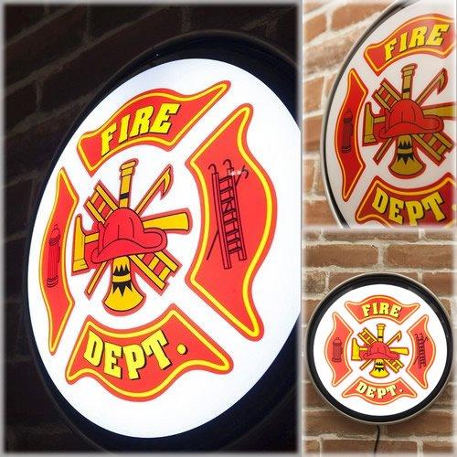 壁掛け照明(ランプ)サイン「FIRE DEPT」 B00MLP20GE