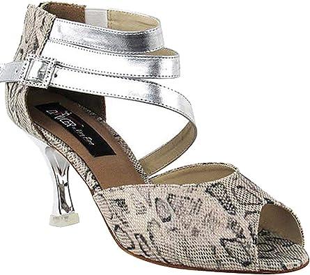 Women/'s Black Rhinestone Salsa Ballroom Latin Dance Shoes Heel 2.5 3 SERA7017