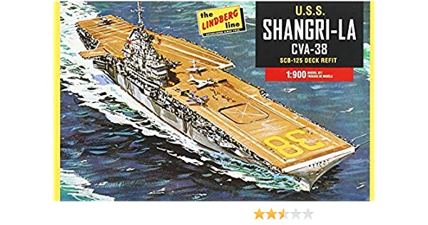 Amazon com: Lindberg HL442 U S S  Shangri-La CVA-38 Aircraft Carrier