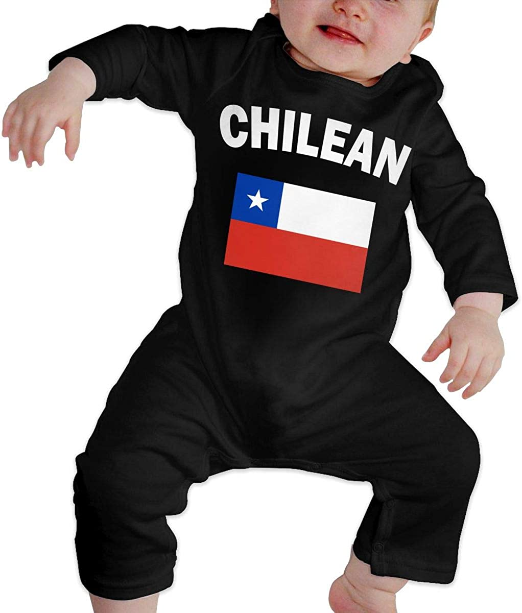 BKNGDG8Q Baby Boys Romper Jumpsuit Chilean Flag-1 Organic One-Piece Bodysuits Coverall Outfits