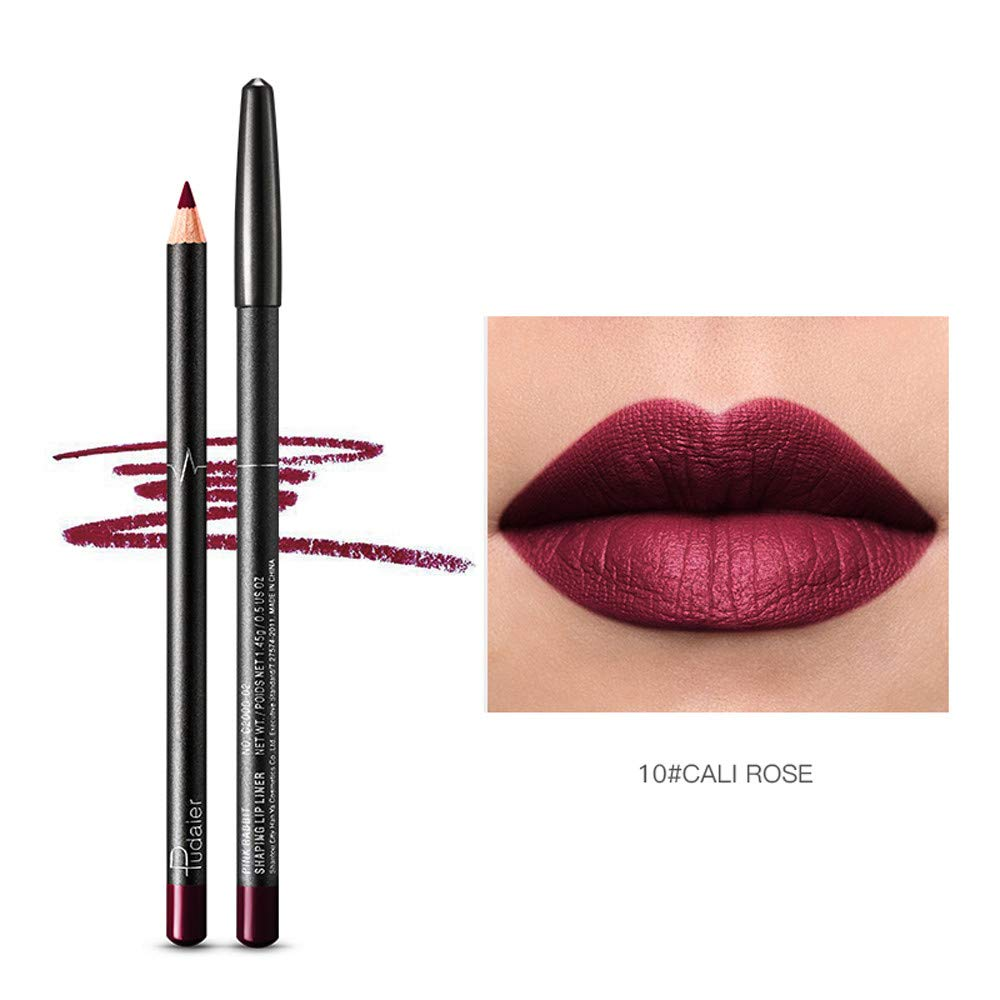 SUGEER 6pcs Lip Liner Set 6 Colors Lip Pencils Womens Lasting Waterproof Lip Liner Lipstick Pencil Highly-pigmented Designed are Perfect for Shaping in The Lips for a Fuller Look