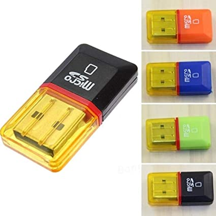 2Pcs Memory Card Reader Adapters To USB 2.0 Adapter For Mini SD SDHC SDXC TF