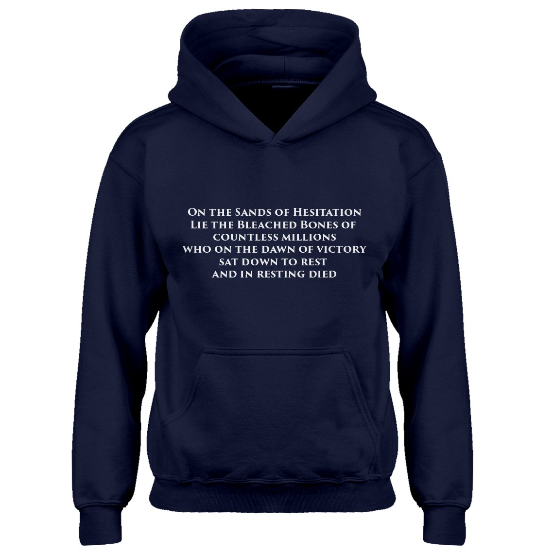 Indica Plateau Kids Hoodie On The Sands of Hesitation Small Navy Blue Hoodie