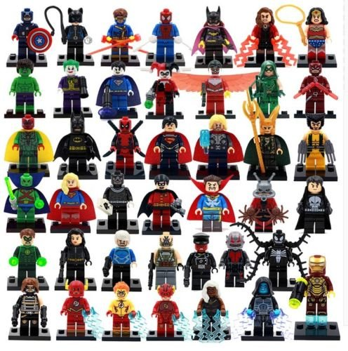 Lot of 42 Sets Minifigures Super Heroes Marvel.dc Series Batman 2016 New Version,compatible with the Major Brands Lego &Amp; Mega Blocks