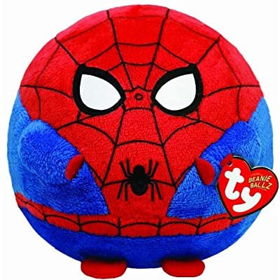 Ty Beanie Ballz Spiderman Plush - Medium: Toys & Games