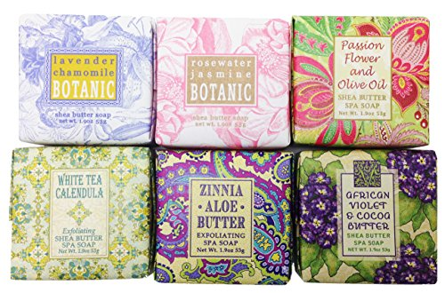 Spring Garden Bloom Flower Shea Butter Soap Gift Set