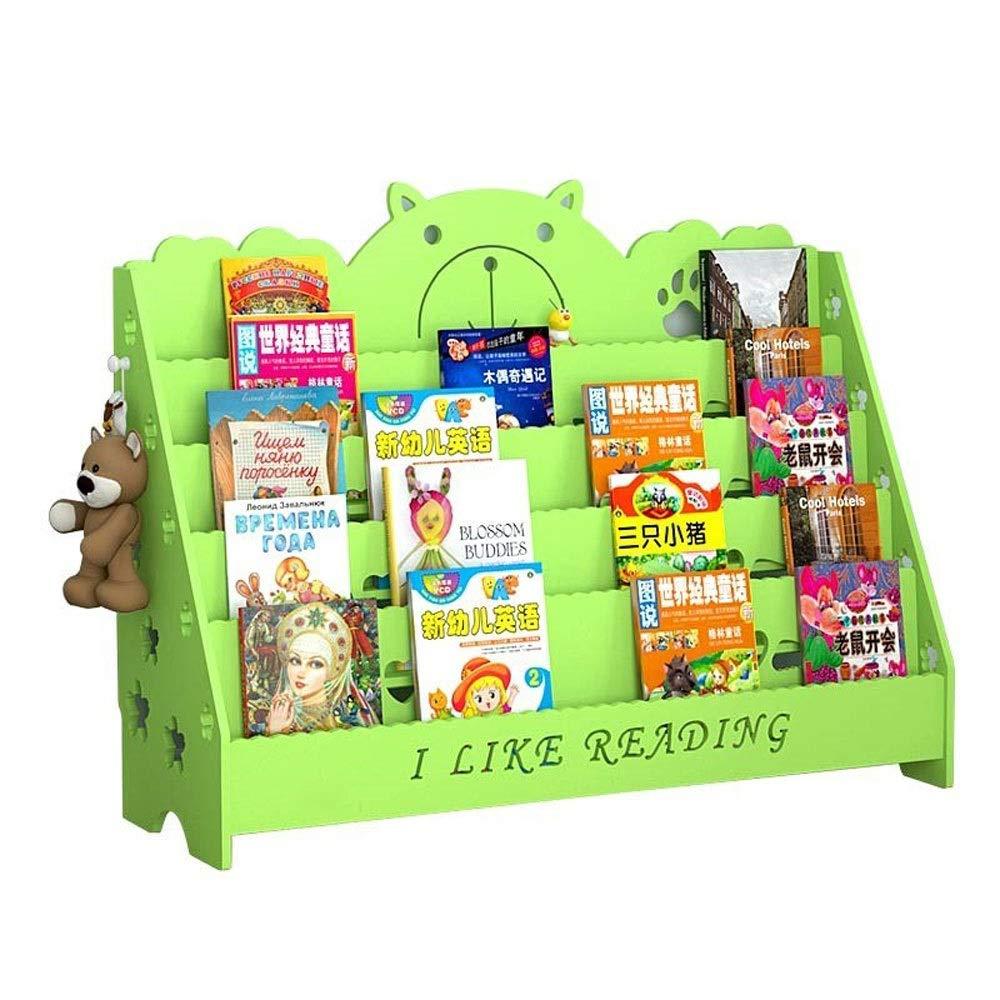 TONGSH キッズスリング本棚クリエイティブキッズ漫画本棚赤ちゃん学生フォトブックスタンドフロア棚寝室収納 (Size : M) Medium  B07TMLKVXR