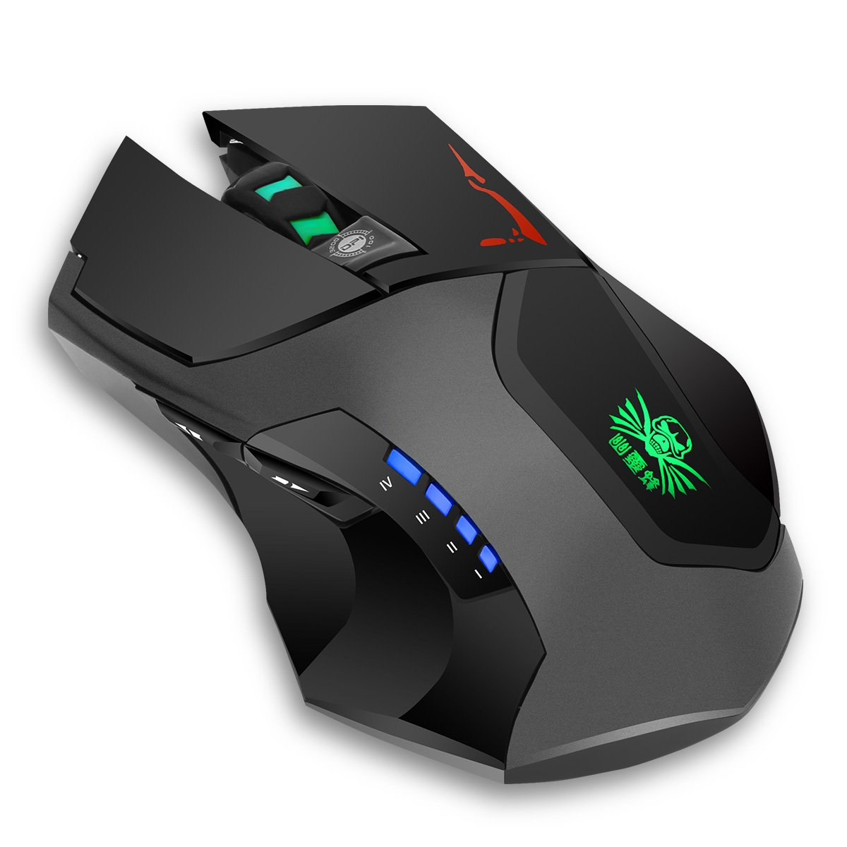 BAKTH Nano 2.4 Ghz Cordless Optical Gaming Mouse with 6 Buttons, Counter Weight Set, 4 DPI Adjustment Levels with Wireless USB Receiver + BAKTH Customized Large Mouse Mat