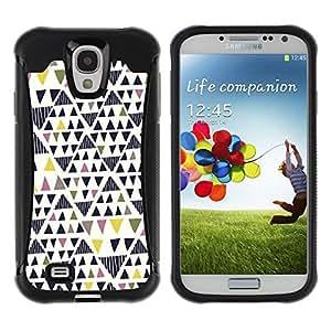 Suave TPU GEL Carcasa Funda Silicona Blando Estuche Caso de protección (para) Samsung Galaxy S4 IV I9500 / CECELL Phone case / / Art Geometrical Triangle /