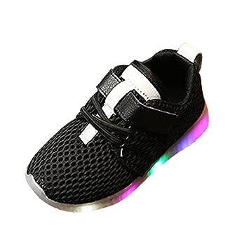 zapatos bebe niño invierno vestir casual, Sannysis LED Zapatillas de Colores de Luces Transpirables zapatos niña invierno zapatos deportivos niñas Running ...