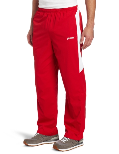 Asics Men's Caldera Warm-Up Pant (Red/White, (Warm Up Coat Pants)
